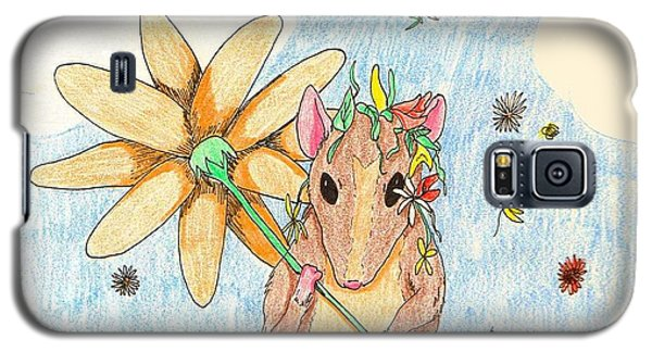 Galaxy S5 Case featuring the drawing Spring Mouse by Wendy Coulson