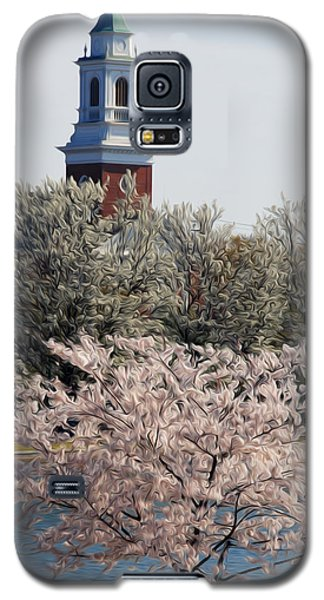 Galaxy S5 Case featuring the digital art Spring On Fountain Lake by Kelvin Booker