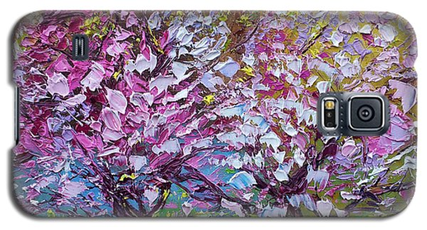 Spring Painting Of Pink Flowers On Magnolia Tree Fine Art By Ekaterina Chernova Galaxy S5 Case