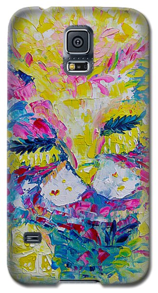 Spring Pink Cat Galaxy S5 Case