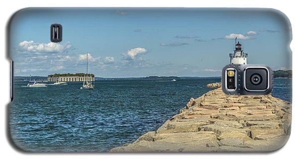 Galaxy S5 Case featuring the photograph Spring Point Ledge Lighthouse by Jane Luxton