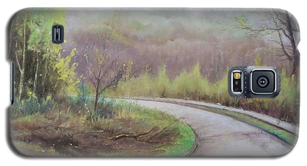 Galaxy S5 Case featuring the painting Spring Road by Rose Wang