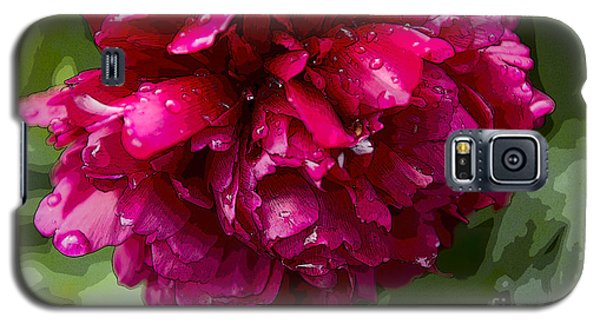 Spring Shower Peony 2 Galaxy S5 Case by Jeanette French