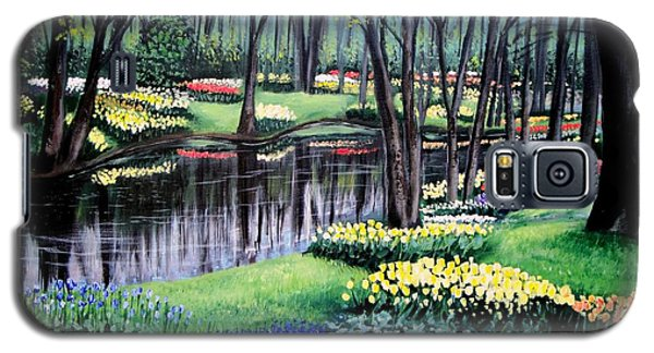Galaxy S5 Case featuring the painting Spring Spendor Tulip Garden by Patricia L Davidson