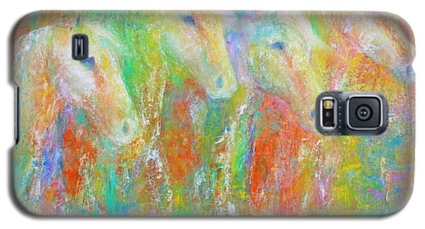 Galaxy S5 Case featuring the painting Spring Splash by Jennifer Godshalk