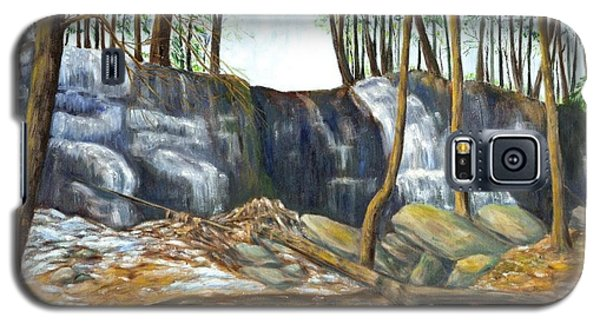 Galaxy S5 Case featuring the painting Spring Thaw In The Ravine by Jeanne Kay Juhos
