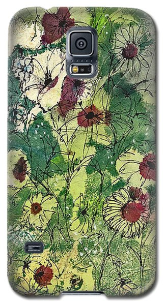 Galaxy S5 Case featuring the painting Spring Tracery by Joan Hartenstein