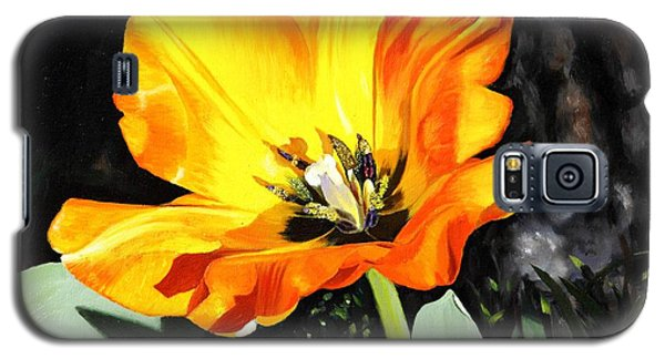 Galaxy S5 Case featuring the painting Spring Tulip by Glenn Beasley