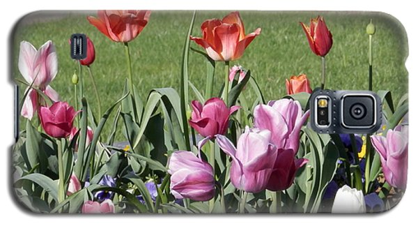 Galaxy S5 Case featuring the digital art Spring Tulips For My Son by Angelia Hodges Clay