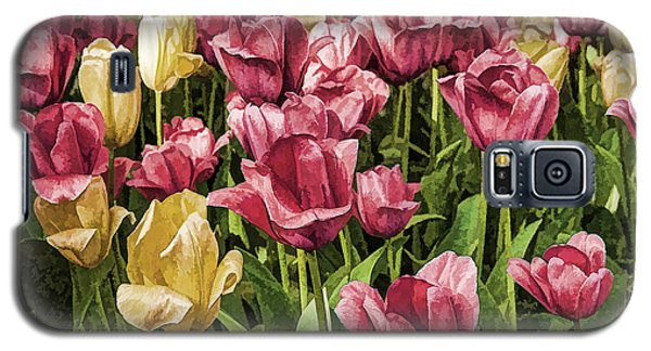 Galaxy S5 Case featuring the photograph Spring Tulips by Linda Blair