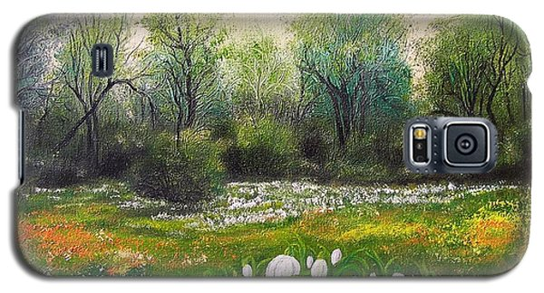 Galaxy S5 Case featuring the painting Spring by Vesna Martinjak
