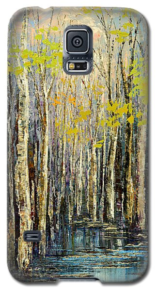 Galaxy S5 Case featuring the painting Spring Wind by Tatiana Iliina