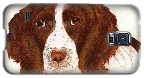 Galaxy S5 Case featuring the painting Springer Spaniel  by Nan Wright