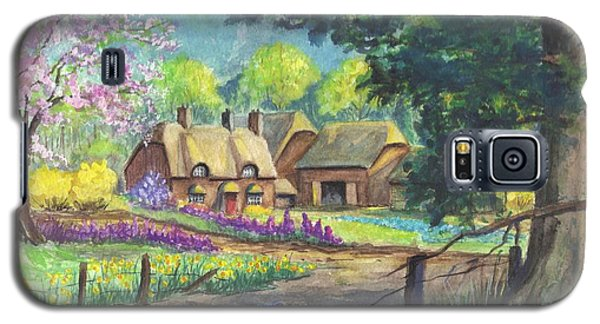 Springtime Cottage Galaxy S5 Case