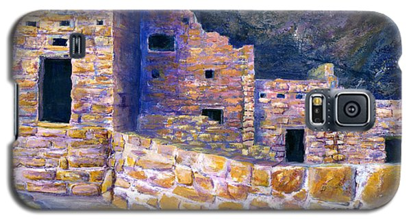 Galaxy S5 Case featuring the painting Spruce House At Mesa Verde In Colorado by Lenora  De Lude