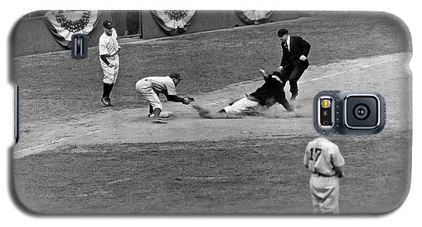 Spud Chandler Is Out At Third In The Second Game Of The 1941 Wor Galaxy S5 Case by Underwood Archives