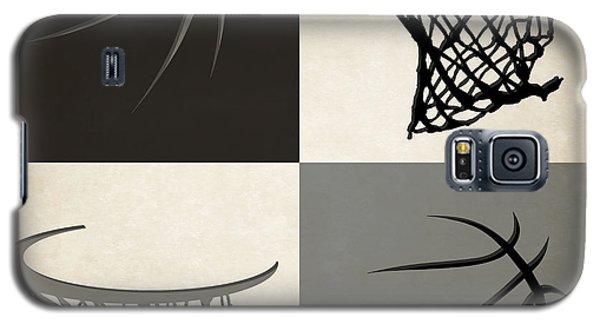 Sport Galaxy S5 Case - Spurs Ball And Hoop by Joe Hamilton