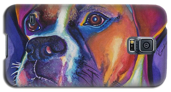 Square Boxer Portrait Galaxy S5 Case