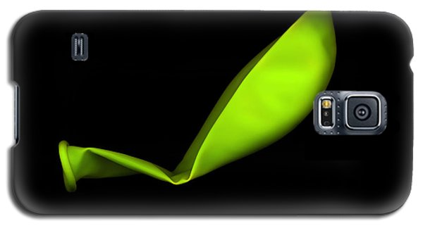 Square Lime Green Balloon Galaxy S5 Case by Julian Cook