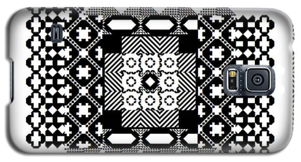 Square Spiral Galaxy Signed Galaxy S5 Case