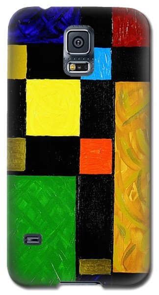 Galaxy S5 Case featuring the painting Squared by Celeste Manning
