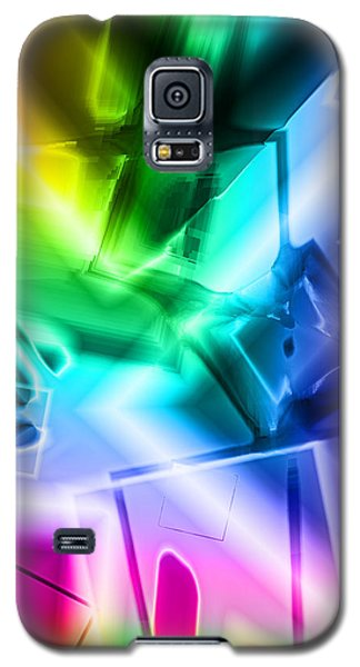 Galaxy S5 Case featuring the digital art Squares by Lola Connelly