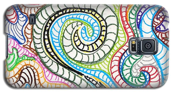 Galaxy S5 Case featuring the painting Squiggle Snake by Artists With Autism Inc