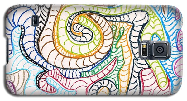 Galaxy S5 Case featuring the drawing Squiggle Worm by Artists With Autism Inc