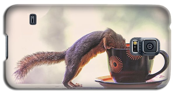 Squirrel And Coffee Galaxy S5 Case