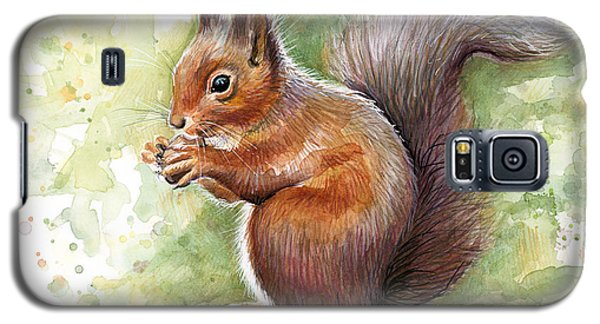Squirrel Watercolor Art Galaxy S5 Case