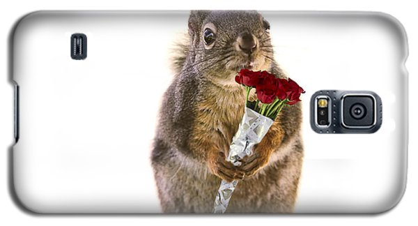 Squirrel With A Dozen Red Roses Galaxy S5 Case by Peggy Collins