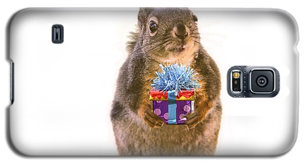 Squirrel With Gift Galaxy S5 Case