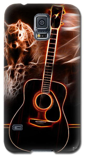 Galaxy S5 Case featuring the digital art Squirrelly Music Red by James Ahn