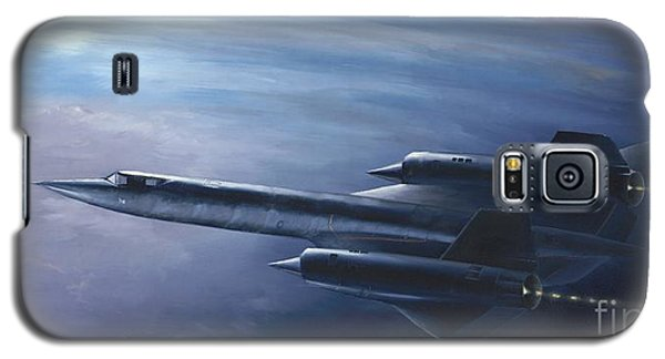 Galaxy S5 Case featuring the painting Sr-71 by Stephen Roberson