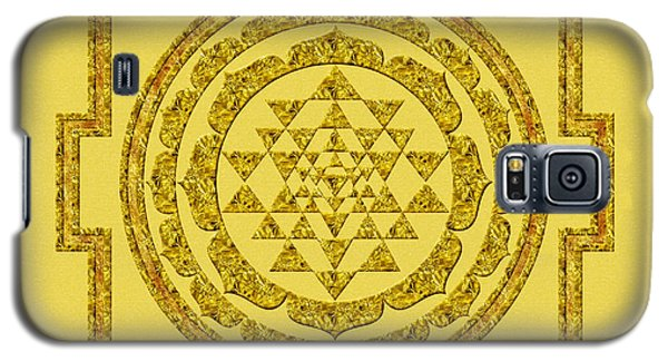Sri Yantra In Gold Galaxy S5 Case by Olga Hamilton