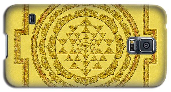 Sri Yantra In Gold Galaxy S5 Case