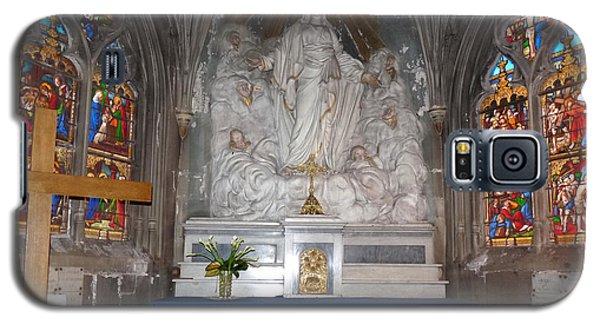 Galaxy S5 Case featuring the photograph St. Aignan Church Altar by Deborah Smolinske
