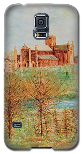 St Albans Abbey - Autumn View Galaxy S5 Case by Giovanni Caputo