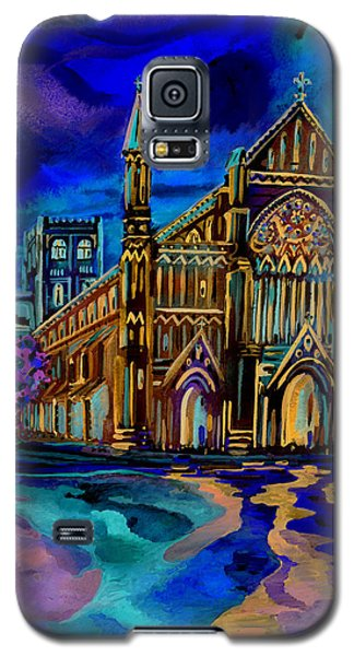 Galaxy S5 Case featuring the digital art St Albans Abbey - Night View by Giovanni Caputo