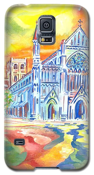 St Albans Abbey - Rainbow Celebration Galaxy S5 Case by Giovanni Caputo