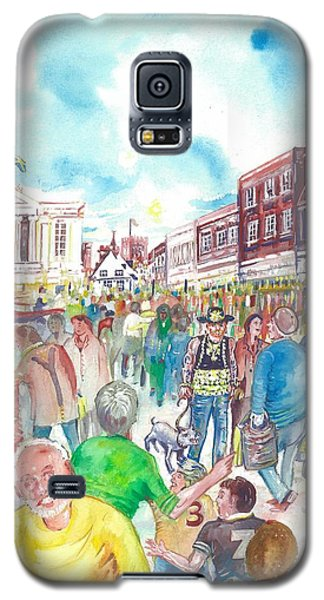 St Albans - Market People Galaxy S5 Case by Giovanni Caputo