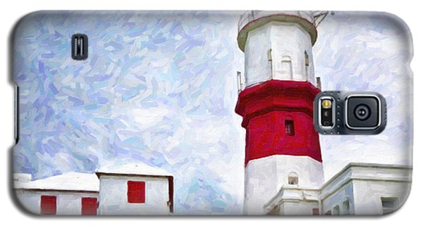 Galaxy S5 Case featuring the photograph St. David's Lighthouse by Verena Matthew