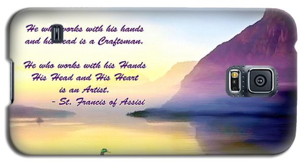 St Francis Of Assisi Quotation Galaxy S5 Case
