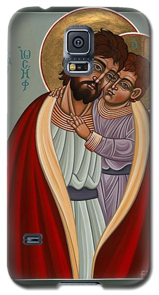 Galaxy S5 Case featuring the painting St. Joseph And The Holy Child 239 by William Hart McNichols