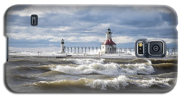St Joseph Lighthouse On Windy Day Galaxy S5 Case