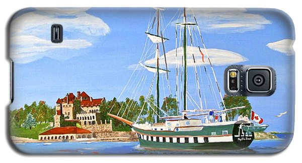 Galaxy S5 Case featuring the painting St Lawrence Waterway 1000 Islands by Phyllis Kaltenbach