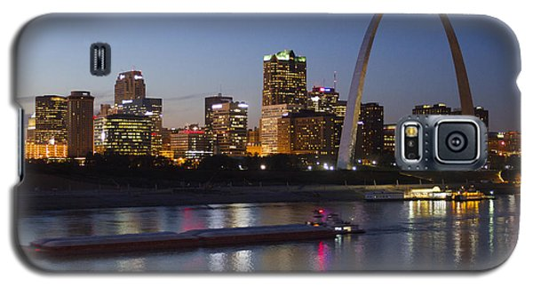 St Louis Skyline With Barges Galaxy S5 Case by Garry McMichael