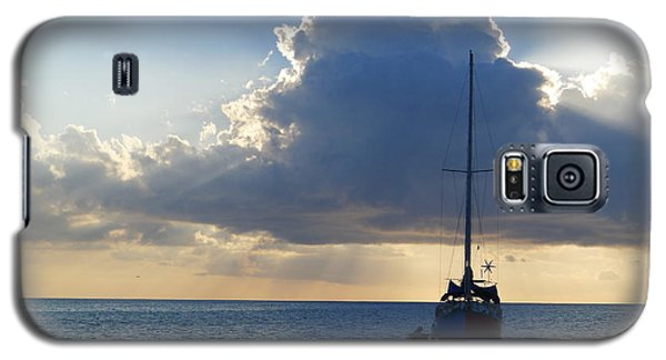 Galaxy S5 Case featuring the photograph St. Lucia - Cruise - Sailboat by Nora Boghossian