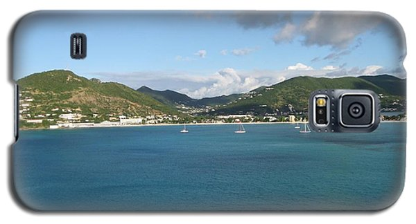 Galaxy S5 Case featuring the photograph St Maarten At A Distance by Jean Marie Maggi