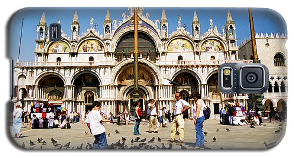 Galaxy S5 Case featuring the photograph St. Mark's Basilica  by Allen Beatty